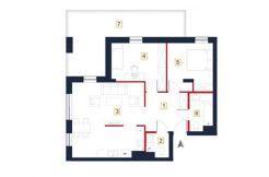 deweloperskie mieszkania rzeszów - rzut mieszkania a21