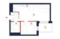 deweloperskie mieszkania rzeszów - rzut mieszkania a24