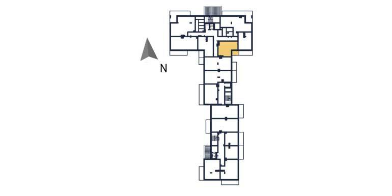 deweloperskie mieszkania rzeszów - rzut kondygnacji z zaznaczonym mieszkaniem  a24