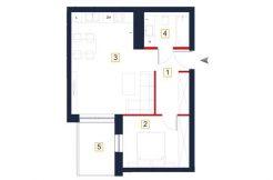 deweloperskie mieszkania rzeszów - rzut mieszkania a26