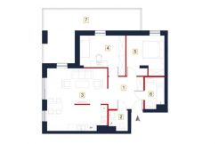 deweloperskie mieszkania rzeszów - rzut mieszkania a28