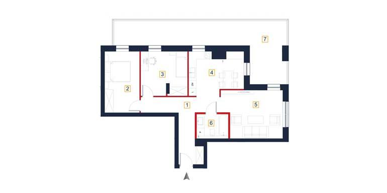 Mieszkanie – 3 pokoje – loggia – 74,56 m<sup>2</sup> – Rzeszów