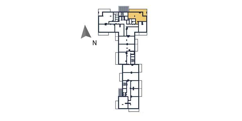 sprzedaż mieszkań rzeszów - rzut kondygnacji z zaznaczonym mieszkaniem  a29