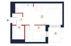 mieszkania na sprzedaż rzeszów - rzut mieszkania a3