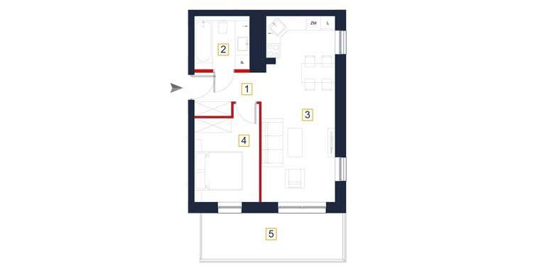 sprzedaż mieszkań rzeszów - rzut mieszkania  a30