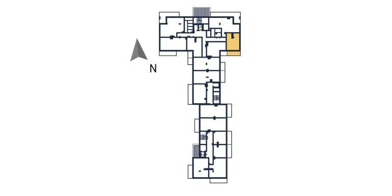 sprzedaż mieszkań rzeszów - rzut kondygnacji z zaznaczonym mieszkaniem  a30