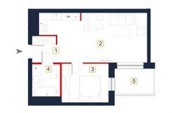 sprzedaż mieszkań rzeszów - rzut mieszkania a31