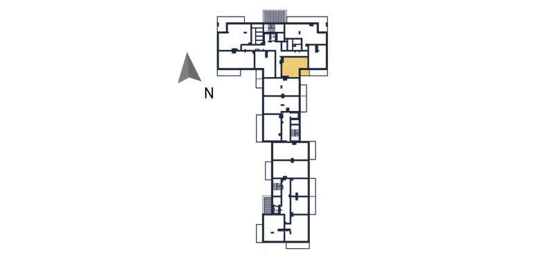sprzedaż mieszkań rzeszów - rzut kondygnacji z zaznaczonym mieszkaniem  a31