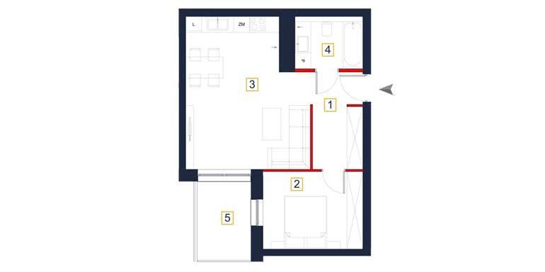 sprzedaż mieszkań rzeszów - rzut mieszkania  a33