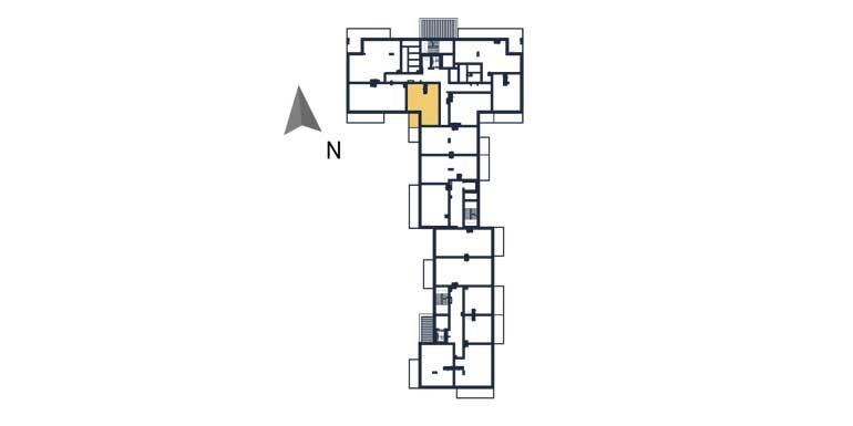 sprzedaż mieszkań rzeszów - rzut kondygnacji z zaznaczonym mieszkaniem  a33