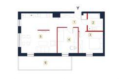 sprzedaż mieszkań rzeszów - rzut mieszkania a34