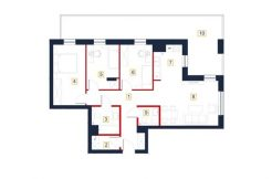 sprzedaż mieszkań rzeszów - rzut mieszkania a36