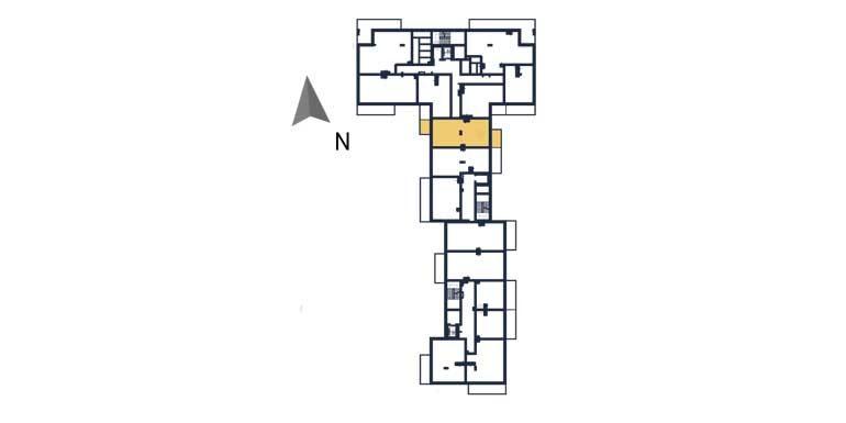sprzedaż mieszkań rzeszów - rzut kondygnacji z zaznaczonym mieszkaniem  a39