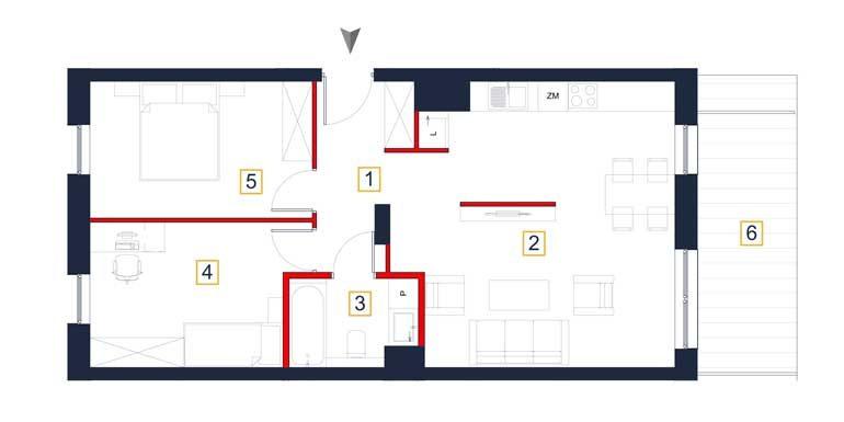 mieszkania na sprzedaż rzeszów - rzut mieszkania a4