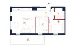 sprzedaż mieszkań rzeszów - rzut mieszkania a41