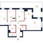 sprzedaż mieszkań rzeszów - rzut mieszkania a43