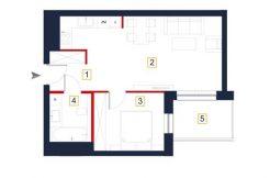 sprzedaż mieszkań rzeszów - rzut mieszkania a45