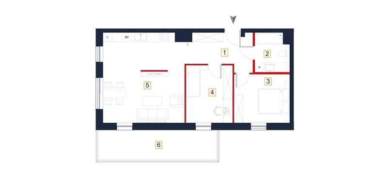 sprzedaż mieszkań rzeszów - rzut mieszkania  a48