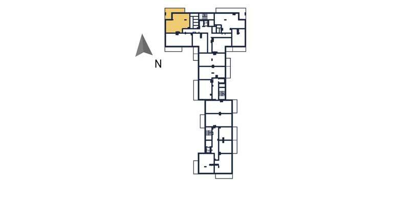 sprzedaż mieszkań rzeszów - rzut kondygnacji z zaznaczonym mieszkaniem  a49