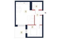 mieszkania na sprzedaż rzeszów - rzut mieszkania a5