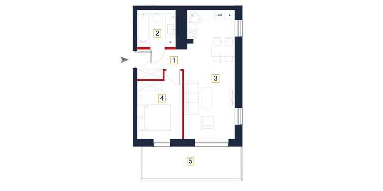 sprzedaż mieszkań rzeszów - rzut mieszkania  a51