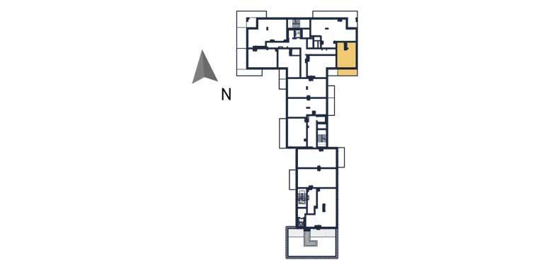 sprzedaż mieszkań rzeszów - rzut kondygnacji z zaznaczonym mieszkaniem  a51