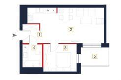 sprzedaż mieszkań rzeszów - rzut mieszkania a52