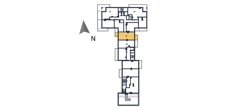 sprzedaż mieszkań rzeszów - rzut kondygnacji z zaznaczonym mieszkaniem  a53