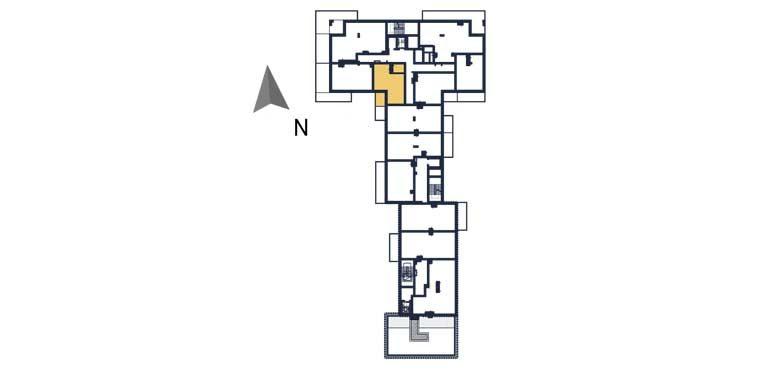 sprzedaż mieszkań rzeszów - rzut kondygnacji z zaznaczonym mieszkaniem  a54
