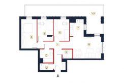 sprzedaż mieszkań rzeszów - rzut mieszkania a57