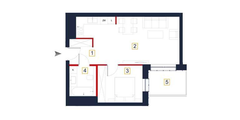 sprzedaż mieszkań rzeszów - rzut mieszkania  a59