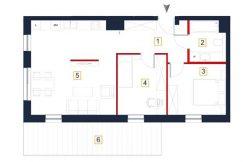 mieszkania na sprzedaż rzeszów - rzut mieszkania a6