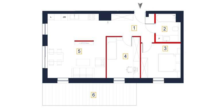 Mieszkanie – 3 pokoje – taras – 66,72 m<sup>2</sup> – Rzeszów