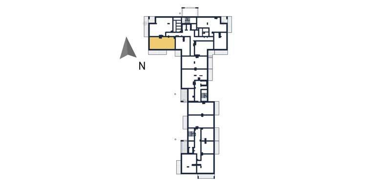mieszkania na sprzedaż rzeszów - rzut kondygnacji z zaznaczonym mieszkaniem a6