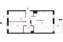 sprzedaż mieszkań rzeszów - rzut mieszkania a60