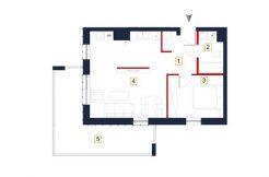 sprzedaż mieszkań rzeszów - rzut mieszkania a62