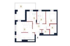 sprzedaż mieszkań rzeszów - rzut mieszkania a63