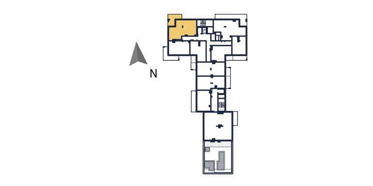 sprzedaż mieszkań rzeszów - rzut kondygnacji z zaznaczonym mieszkaniem  a63
