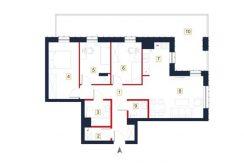 sprzedaż mieszkań rzeszów - rzut mieszkania a64