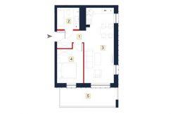 sprzedaż mieszkań rzeszów - rzut mieszkania a65