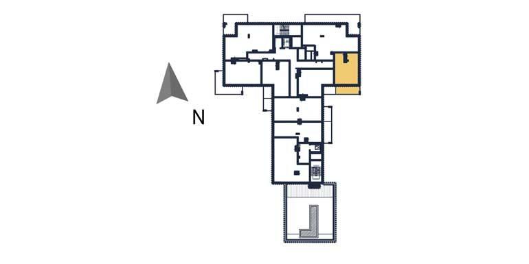sprzedaż mieszkań rzeszów - rzut kondygnacji z zaznaczonym mieszkaniem  a65