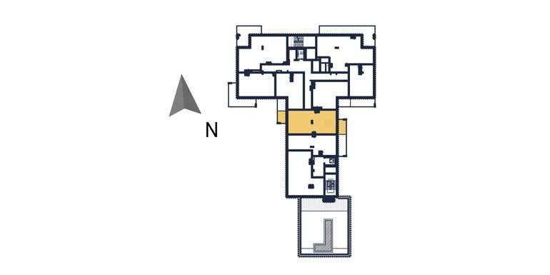 sprzedaż mieszkań rzeszów - rzut kondygnacji z zaznaczonym mieszkaniem  a67