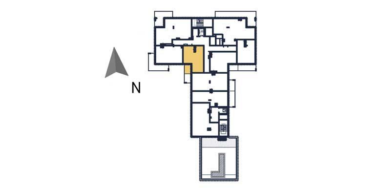 sprzedaż mieszkań rzeszów - rzut kondygnacji z zaznaczonym mieszkaniem  a68