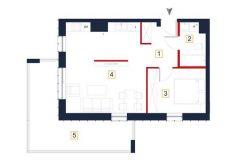 sprzedaż mieszkań rzeszów - rzut mieszkania a69