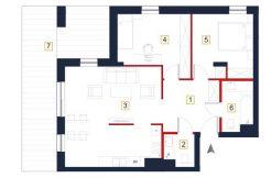 mieszkania na sprzedaż rzeszów - rzut mieszkania a7