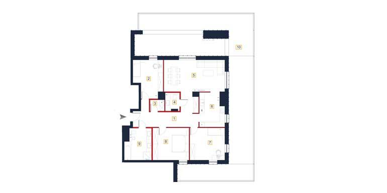 Mieszkanie – 4 pokoje – taras – 122,95 m<sup>2</sup> – Rzeszów