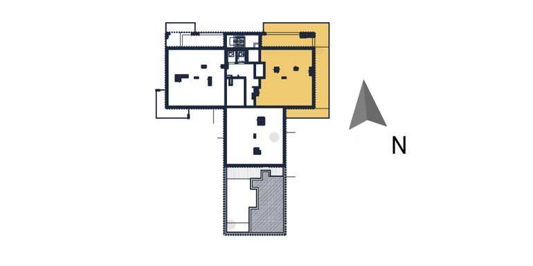 sprzedaż mieszkań rzeszów - rzut kondygnacji z zaznaczonym mieszkaniem  a71