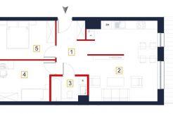 mieszkania na sprzedaż rzeszów - rzut mieszkania a75