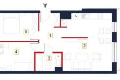 nowe mieszkania rzeszów - rzut mieszkania a76