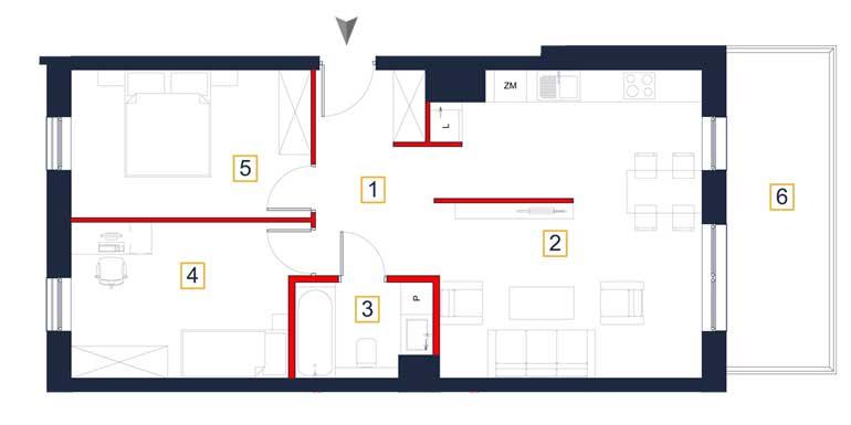 Mieszkanie – 3 pokoje – balkon – 66,20 m<sup>2</sup> – Rzeszów